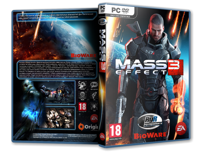 Mass Effect 3 (2012)[v1.0.5427.1 + DLC][RePack, Русский/Англ​ийский/Multi​7, Action (Shooter) / RPG / 3D / 3rd Person] от R.G. Repacker's  С