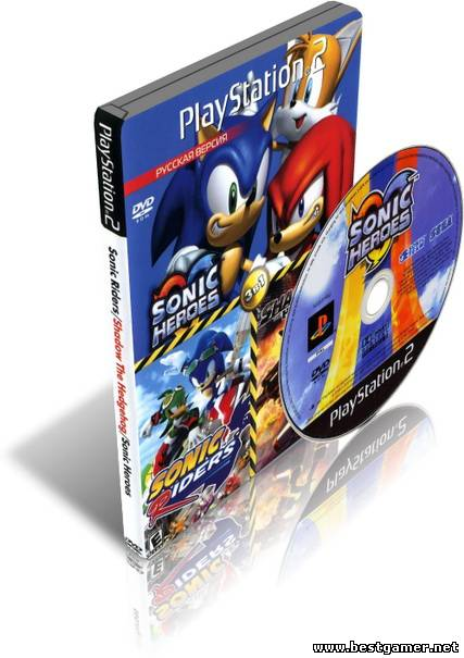 [PS2] 3в1(Sonic heroes,Sonic Riders,Shadow the Hedgehog) [RUS/Multi6|PAL]