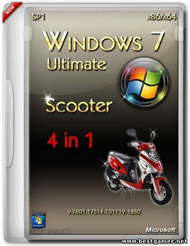 Windows 7 Ultimate SP1 Scooter [x86+x64] [2013] [ENG + RUS]