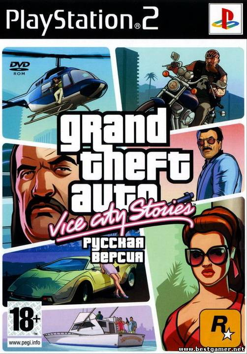 [PS2] Grand Theft Auto Vice City Stories (GTA VCS) [Gamebox] [Full RUS|PAL]+18