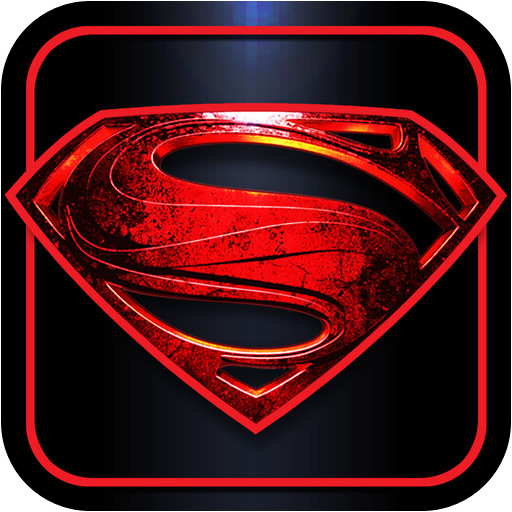 Superman man of steel logo vector