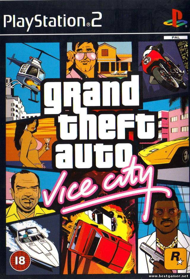 [PS2] Grand Theft Auto: Vice City (GTA VC) [Full RUS/Multi5|PAL]