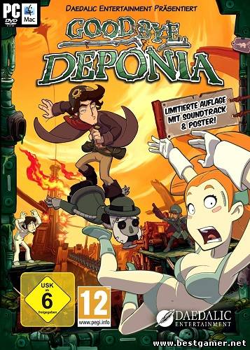 Goodbye Deponia - Premium (Daedalic Entertainment) (RUS-ENG-MULTI4) [Steam-Rip]