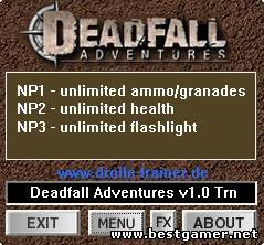 Deadfall Adventures: Трейнер/Trainer (+3) [1.0]