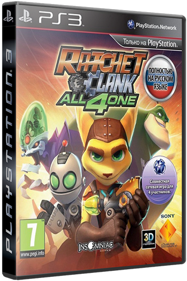 [PS3]Ratchet & Clank: All 4 One [RUS] [PAL] [Rip] [Cobra ODE / E3 ODE PRO ISO]