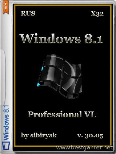 Windows 8.1 Professional VL by sibiryak v.30.05 (х32) (2014) [RUS]