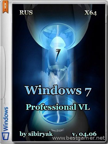 Windows 7 Professional VL v.04.06 by sibiryak (x64)(2014) [RUS]