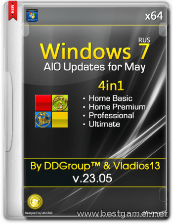 Windows 7 SP1 x64 4in1 DVD updates for May [v.23.05] [2014, Ru]