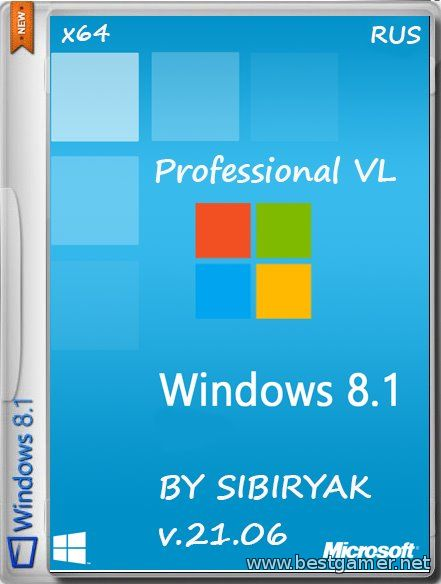 Windows 8.1 Professional v.21.06(х64)(2014)