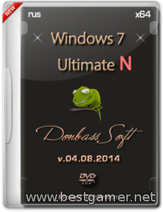 Windows 7 Ultimate N SP1 v.04.08.2014 (x64) (2014) [Rus]