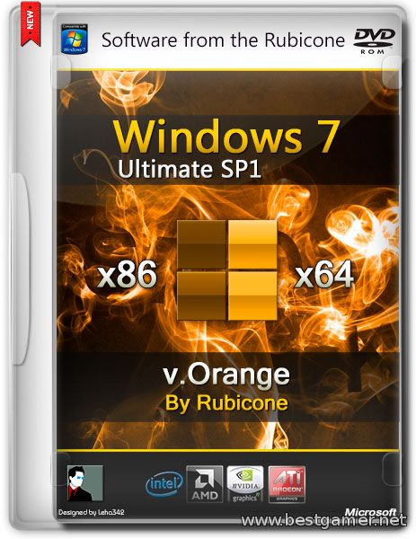 Windows 7 Ultimate SP1 (x86/x64) [v.Orange]  [Ru]