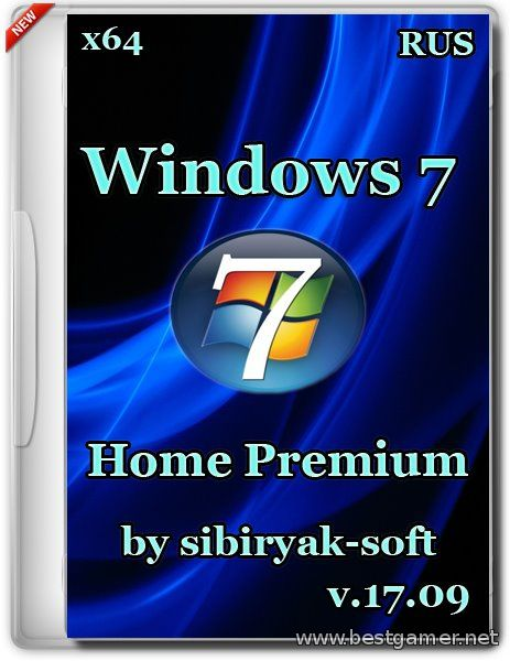Windows 7 Home Premium v.17.09 (x64) (2014)[RUS]