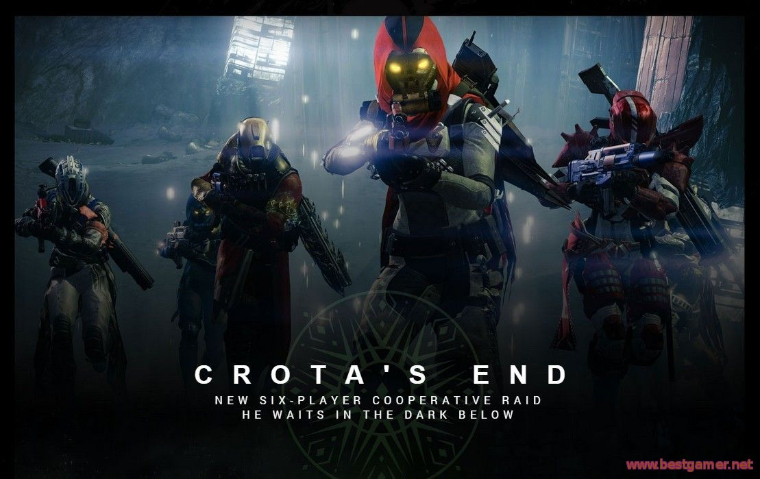 Destiny The Dark Below Raid The End of Crota(прошли в пятером за 45 мин)