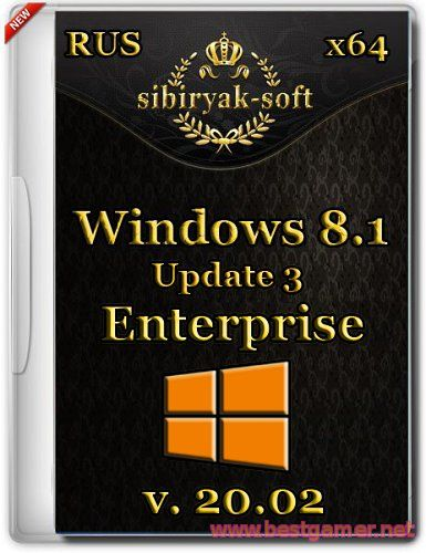Windows 8.1 Enterprise with update 3  v.20.02 (х64) [2015/Rus]