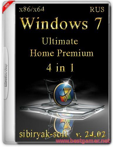 Windows 7 SP1 4 in 1 (v.24.02) (х86/х64)