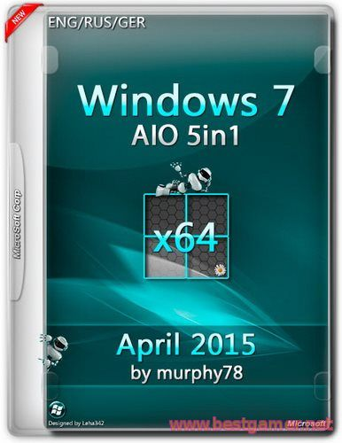 Windows 7 SP1 AIO 5in1 April 2015 by murphy78 (x64)